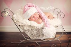 Baby Girl  Hat  Crochet Newborn BABY Girl OR by JerribeccaHats2, $21.99