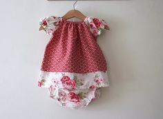 Hey, I found this really awesome Etsy listing at https://www.etsy.com/listing/179265946/baby-girl-dress-matching-knickers