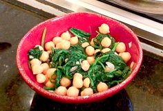 Cleanse NYC » In the Kitchen: Marinated Chickpeas and Sautéed Spinach