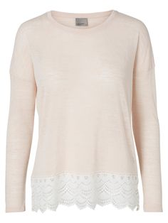 This long sleeved top from VERO MODA gives you a feminine look with the pretty lace detail!