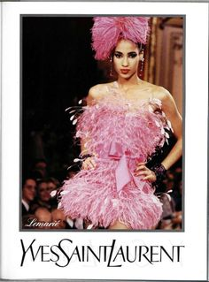 Yves Saint Laurent   Fall 1987   YSL Couture worn by American Fashion Model Sonia Cole