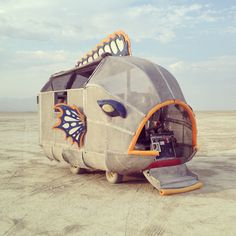 fish - thin skinned art car - 30 Amazing Photos That Will Make You Wish You Were At Burning Man 2014