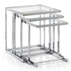 Bijzettafel Bliar 50 / 45 / 40 x 50 / 45 / 40 x 55 / 50 / 45 Clear Glass, Metal La Forma Living Room Furniture Online, Online Furniture Stores, Wholesale Furniture, Sofa Furniture, Buy Coffee Table, Modern Coffee Tables, Modern Table, Dining Suites, Glass Side Tables