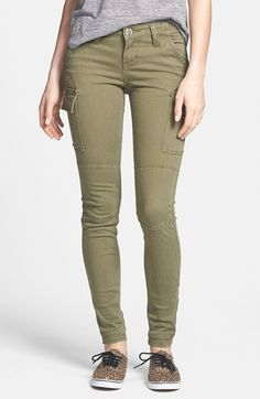 but in grey.Free shipping and returns on STS Blue Skinny Cargo Pants (Juniors) at Nordstrom.com. Cargo-style flap pockets and welted seams add army-chic dimension to these ultraslim olive-green skinny pants.