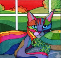 Cat & Turtle by April Murphy