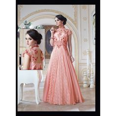 Viva N Diva Dusty Pink Color Pure #Goergette #Gown #onlineshopping http://goo.gl/03G9ex