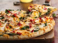 Pizza de Espinacas y Pollo con Doble Queso - Que Rica Vida