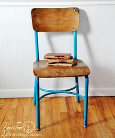 vintage school chair recycle my home pinterest school chairs