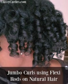 jumbo flexi rod set on natural hair