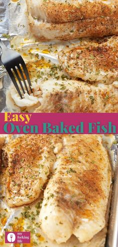 When you need to get dinner on the table in a hurry, this easy oven-baked fish is more than ideal. Ready to serve in 20 minutes, it's a great healthy dinner recipe that the whole family will love. White Fish Recipes, Shrimp Recipes Easy, Baked Salmon Recipes, Seafood Recipes, Best Paleo Recipes, Meat Recipes, New Recipes For Dinner, Dinner Ideas, Oven Baked Fish