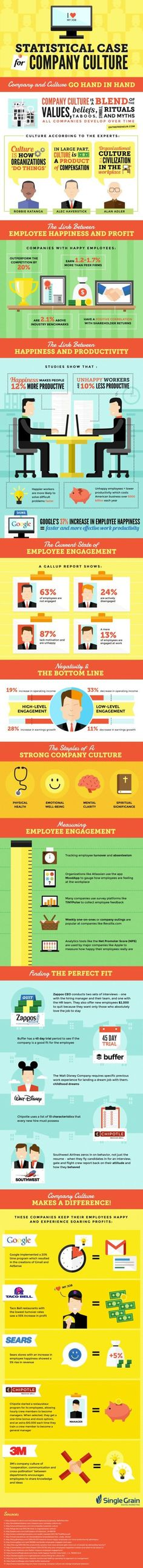 Organisational culture infographic. Facts and figures as found in saatkorn.