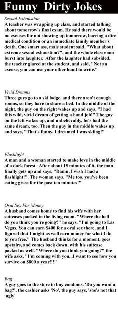 Dirty one liners about men