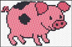 pink pig black spots