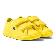 Lacoste Yellow Infants Carnaby 317 Velcro Trainers