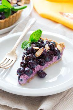 Blueberry Almond Tart on healthyseasonalrecipes.com