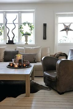 Chic Norway Home decorated for Christmas