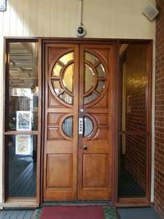 Doors of Oldest Pub in Warwick Queensland Old Pub, Doors, Furniture, Home Decor, Wooden Gates, Firewood Holder, Puertas, Decoration Home, Room Decor