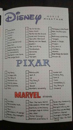 Netflix Movies To Watch, Movie To Watch List, Disney Movies To Watch, Film Disney, Good Movies To Watch, Marvel Movies List, List Of Pixar Movies, Disney Films List, Netflix Movie List