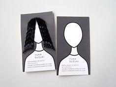 Yuka Suzuki: Hair & Make-Up Artist - A clever and functional business card for Yuka Suzuki, hair and make-up artist.