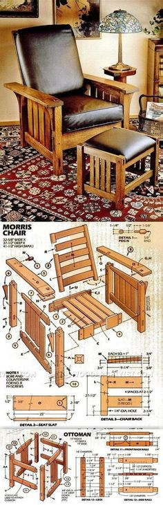 DIY Morris Chair - Furniture Plans and Projects | WoodArchivist.com #woodworkingplans