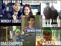 Running man..........♥Monday Couple♥Hororo♥Grasshopper