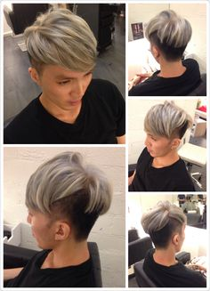 With the recent in-colour choice among our customers, we decide to give him the cold tone look too. But definitely something unique just for him.  With the combi of Light Violet, Ash Grey & Violet Ash, he just can't believe how great it turn out to be! He's glad he did not insist further just wanting one colour tone and decided to leave it to the professional. (Told you brother! You can carry it one! )  Now he's totally ready to welcome his Friday Night Party at One Attitude!