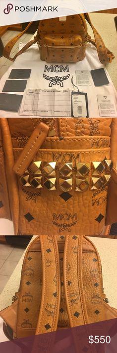 Mcm backpack w receipt Message me for details 402-833-2122 MCM Bags Backpacks
