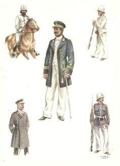Force publique 1890 officiers et sous officiers