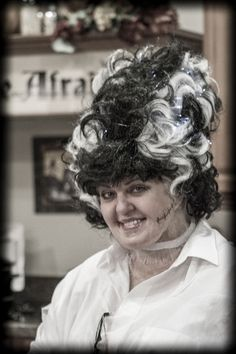 """This Bride """"lights up"""" the evening, WITH HER WIG! Brilliant, literally!"""
