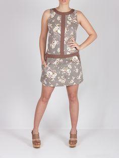 Vestido beige flores #dress