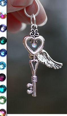 Heart Flight Key Necklace by KeypersCove on Etsy, $15.99 http://www.etsy.com/shop/KeypersCove