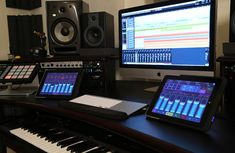 Check out this massive list of home studio setup ideas. Filter down by room colors, number of monitors, and more to find your perfect studio. Audio Studio, Music Studio Room, Sound Studio, Home Recording Studio Equipment, Recording Studio Design, Home Studio Setup, Dream Studio, Studio Ideas, Studio Build