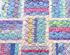 Handmade Patchwork Baby Quilt Minky Homemade Baby Girl Blanket