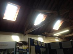 New Velux roof windows let light in at the Braunton Countryside Centre