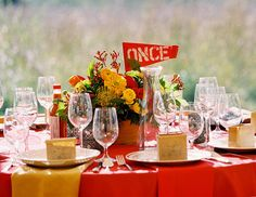Love the Spanish table numbers - perfect for a Cinco De Mayo wedding. Photo by Jen Fariello