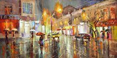 Rainy Evening painting by Dmitry Spiros