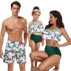 family matching swimwear beachwear mommy and me swimsuit mother daughter father son clothes dresses high waist bikini look mum (Discount: 51 % ) Men's Swimwear, Two Piece Swimwear, Beachwear, Swimsuits, Bikinis, Swimwear For Men, Bikini Alto, My Outfit, Dress Outfits