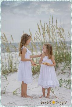 little girls, sisters, beach portraits, beach pictures, girl poses, family pictures, family beach pictures, destin
