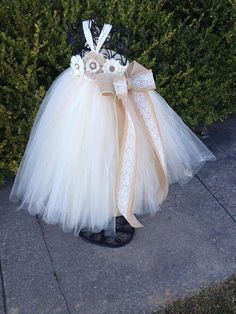 Country Couture Flower Girl Tutu Dress/ by princesstutus2010, $55.00