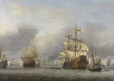Willem van de Velde II, 1670 - The Capture of the Royal Prince - art print, fine art reproduction, wall art Canvas Paper, Oil Painting On Canvas, Oil Paintings, A4 Poster, Poster Prints, Anglo Dutch Wars, Man Of War, Dutch Golden Age, Seascape Art