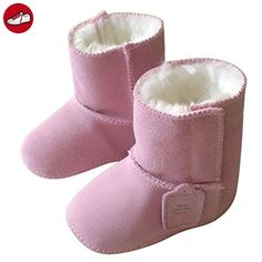 Baby Boy Girl Infant Toddler Winter Fur Shoes Snow Boots Warm Size S - Pink (*Partner-Link)