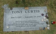 Tony Curtis: Died of Cardiac Arrest at 85. He is buried in Henderson, NV