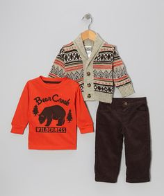 Take a look at this Beige Fair Isle Sweater Set - Infant on zulily today!