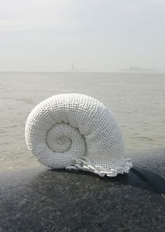 seashell made out off plastic bags