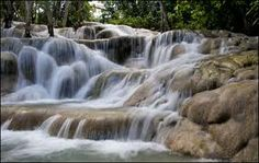 Dunn's River Falls, Jamaica -- i can't believe I didn't fall here.