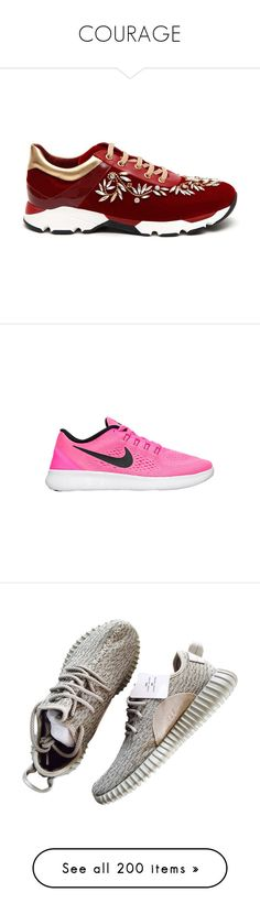 """""""COURAGE"""" by shazellove on Polyvore featuring shoes, sneakers, rené caovilla, genuine leather shoes, real leather shoes, rene caovilla shoes, embellished shoes, nike, flats and tennis shoes"""