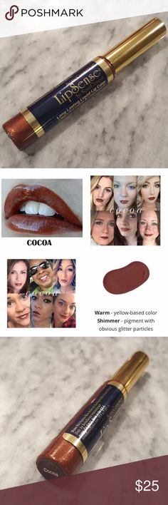 Brand New! Cocoa LipSense! LipSense?is the premier product of SeneGence and is unlike any conventional lipstick, stain or color. As the original long-lasting lip color, it is waterproof, does not kiss-off, smear-off, rub-off or budge-off!   This listing is for one tube of Cocoa LipSense color. To use LipSense you will need Glossy Gloss - I have a separate listing for this. SeneGence Makeup Lipstick