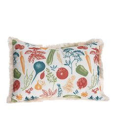 Love this Veggie Etching Pillow on #zulily! #zulilyfinds