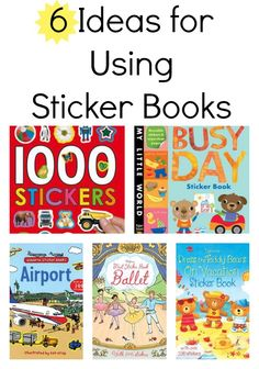 6 Ways to Build Literacy Skills With Sticker Books for Kids Library Activities, Writing Activities, Preschool Activities, Literacy Skills, Early Literacy, Sticker Books, Infant Activities, Learn To Read, Book Crafts