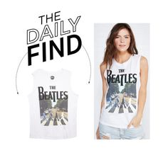 """""""Daily Find: Wet Seal Beatles Tank Top"""" by polyvore-editorial ❤ liked on Polyvore featuring Wet Seal and DailyFind"""